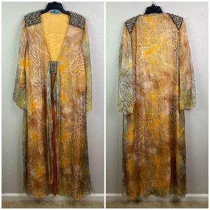 Matthew Williamson Escape 14 Silk Maxi Gown Dress